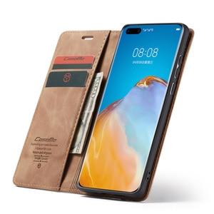 Image 2 - Leather Magnetic Flip Case For Huawei P40 P30 P20 Lite Pro Psmart nova 7i Mate 30 5G 4G Case Wallet Book Card Holder Stand Cover