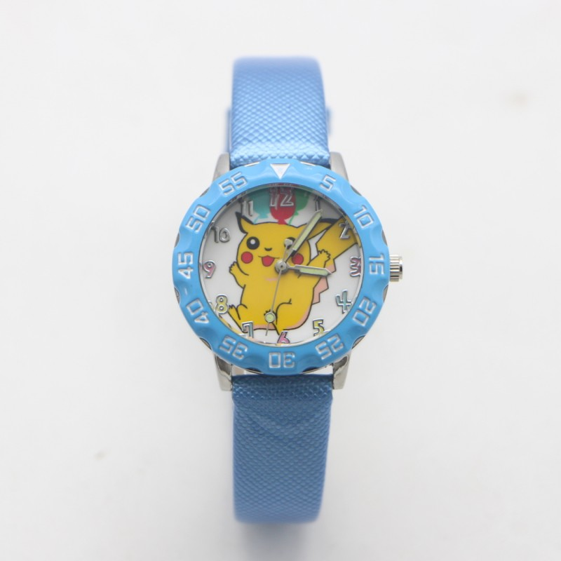 New Arrival Cartoon Pikachu Lovely Leather Jelly Kids Watch Children Student Girls Boy Candy Watches Reloj Mujer Kol Saati Clock