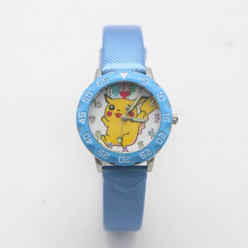 New Arrival Cartoon Pikachu Lovely Leather Jelly Kids Watch Children Student Girls Boy Candy Watches Reloj Mujer Kol Saati Clock