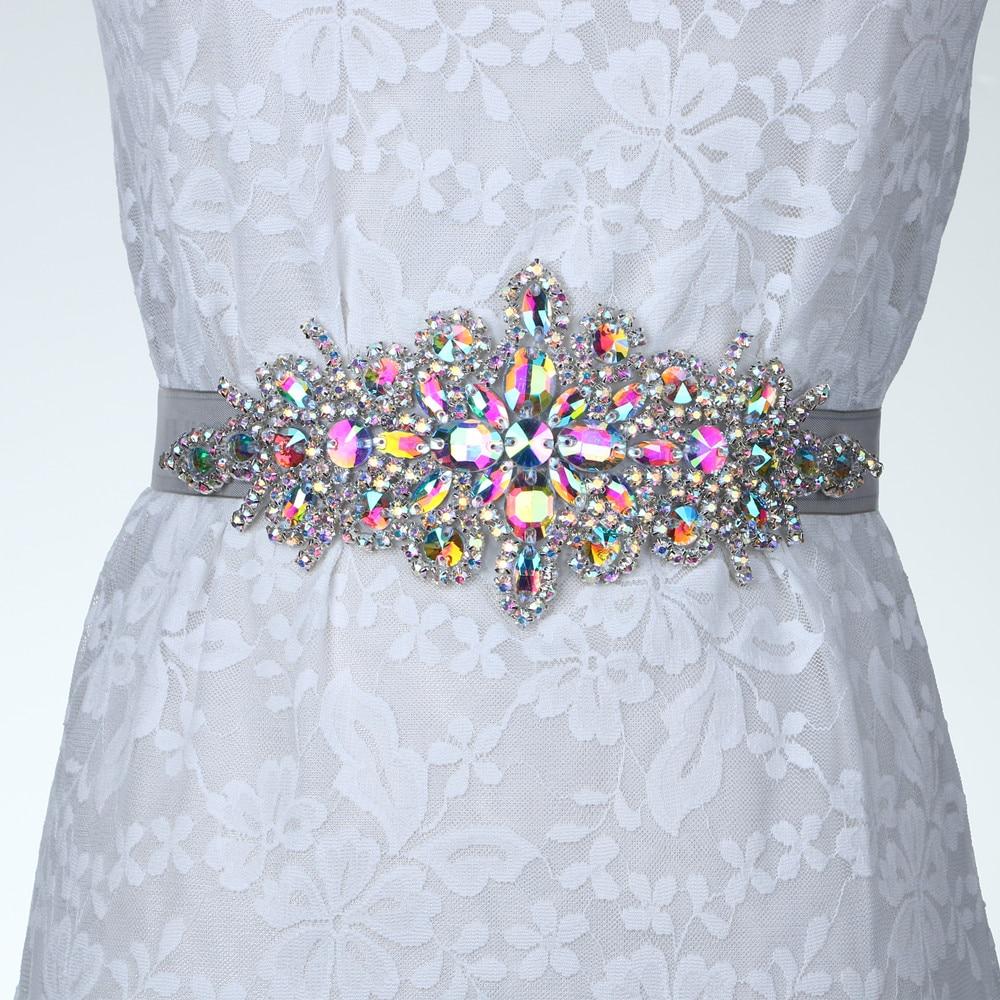 Bridal Ribbon Waistband Sash Belt In Gift Box For Evening Dress Prom Crystal Wedding Accessories Beaded Satin Wedding Dress Belt