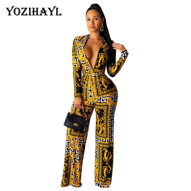 Women Elegant Jumpsuits V-neck Skinny Long Sleeve Sexy Bodycon Casual Slim Jumpsuits Overalls Fashion Ladies Rompers