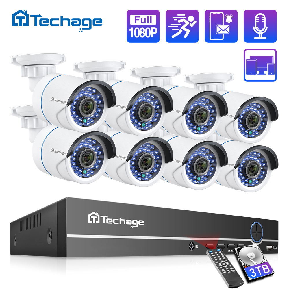 Surveillance-Set Nvr-Kit HDD Audio-Ip-Camera Cctv-Security-System Cctv-Video POE Outdoor