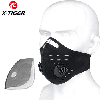 X-TIGER Cycling Face Mask PM 2.5 Bike Mask Activated Carbon Breathing Valve Sports Masks With Anti-Pollution Filter 13