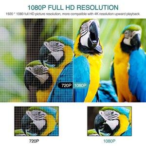 Image 3 - CAIWEI كامل HD العارض A12 1920x1080P أندرويد 6.0 (2G + 16G) واي فاي LED جهاز عرض صغير السينما المنزلية HDMI ثلاثية الأبعاد متعاطي المخدرات الفيديو ل 4K