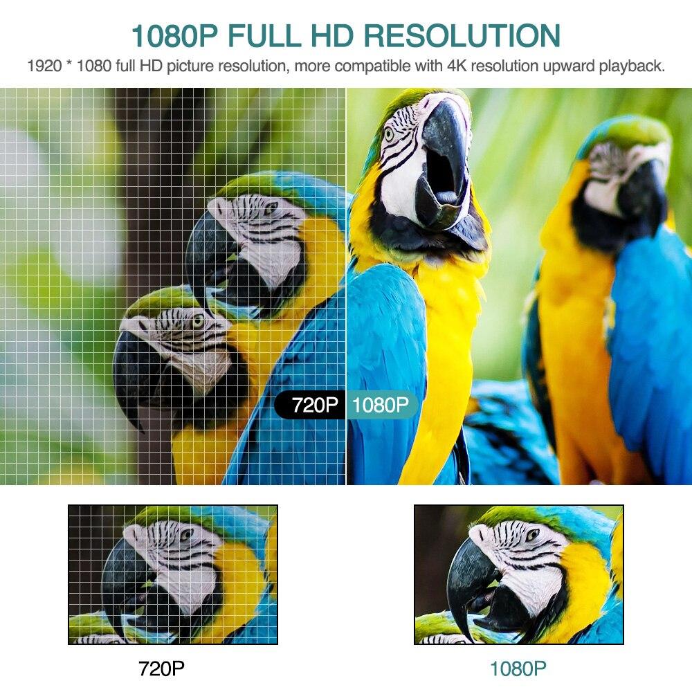 Caiwei completo hd projetor a12 1920x1080p android 6.0 (2g + 16g) wifi led mini projetor de cinema em casa hdmi 3d vídeo beamer para 4k-3