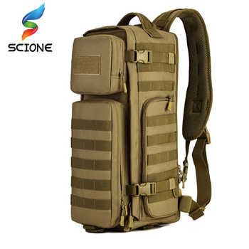 Men Chest Sling Backpack Men's One Single Shoulder Male Large Travel Military Backpacks Cross body Bags Outdoors Rucksack Bag - DISCOUNT ITEM  59% OFF All Category