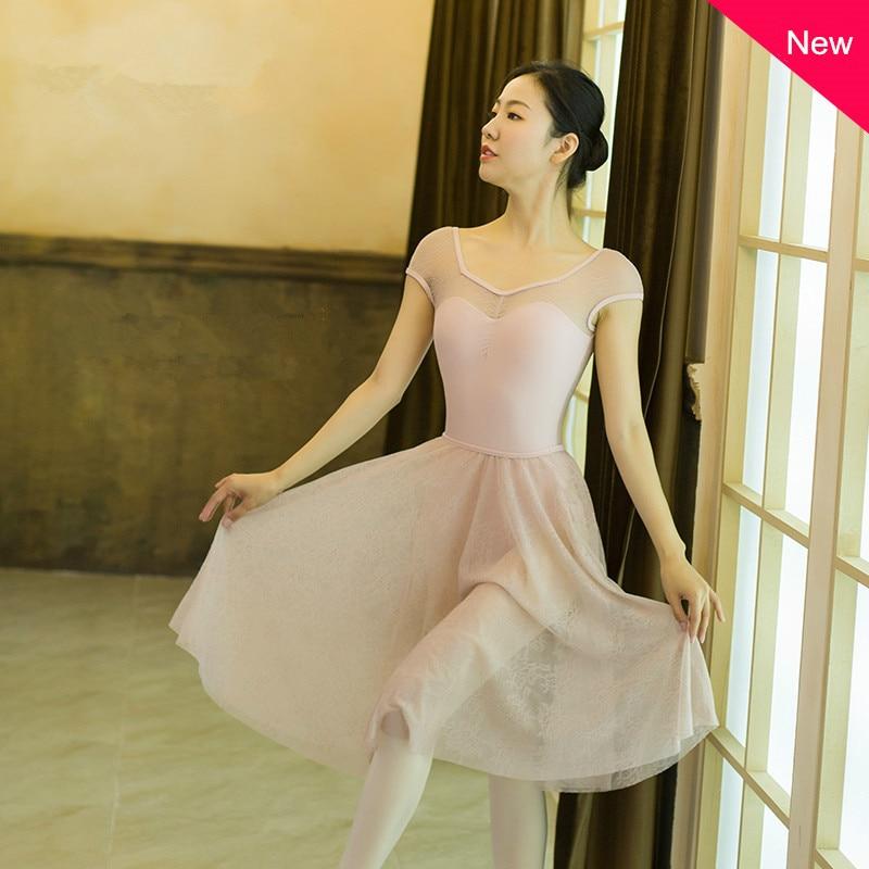Lace Patchwork Ballet Dance Leotard Practicing Body Aerial Yoga Jumpsuit For Women Sleeveless Leotards Adult Bodysuit Dance Wear
