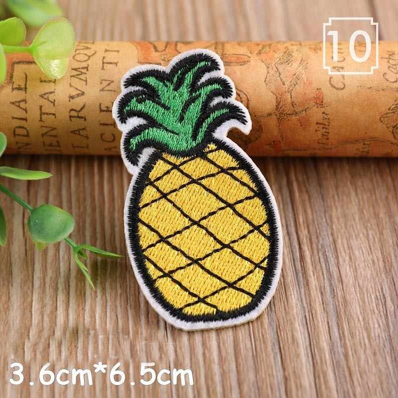 1PCS Cartoon Fruit Strawberry Rainbow lemon Patches for Clothing Punk Wind Diy Coat Hats Back Rubber star Embroidery Badges