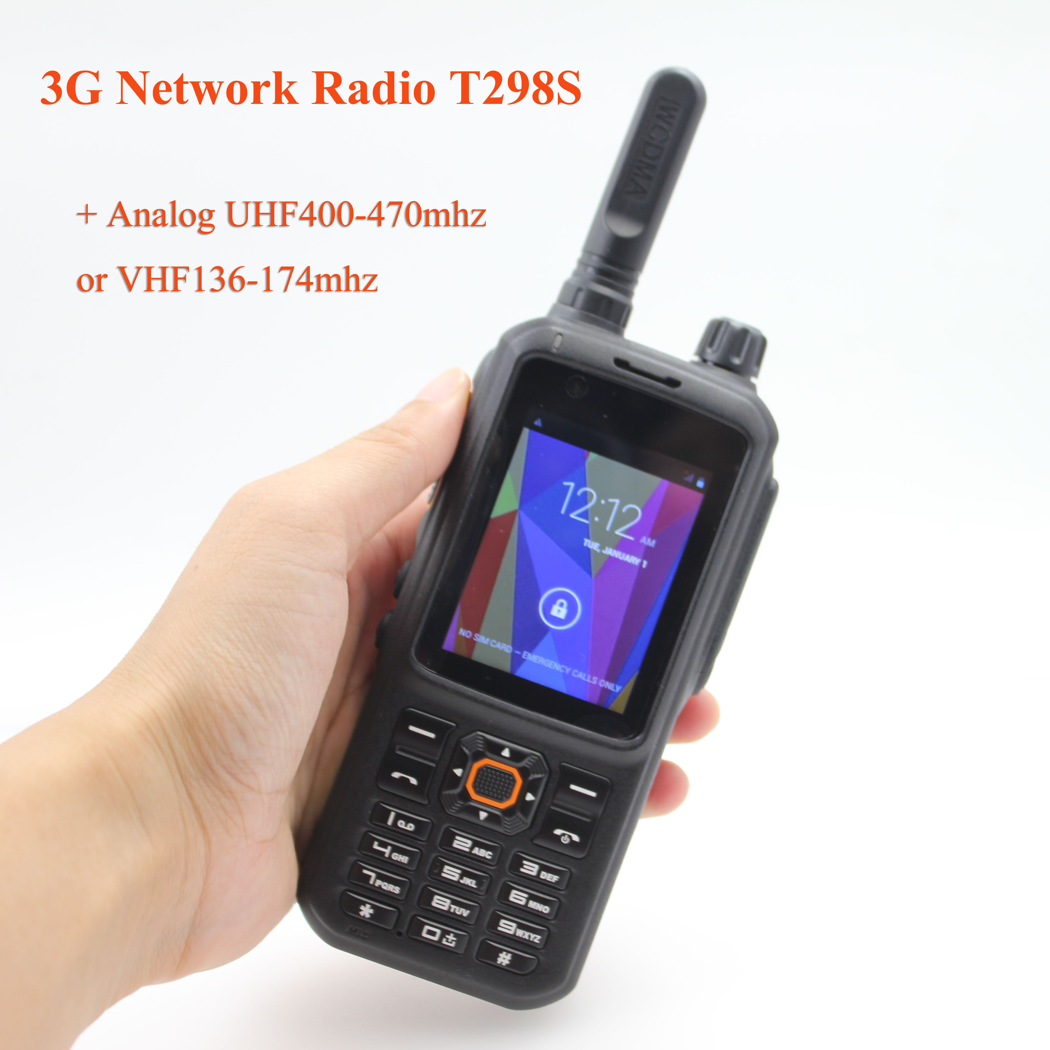 3G Network Radio T298S Android 4.4.2 WCDMA GSM Public Network Radio Touch Screen UHF400-470MHz Or VHF136-174MHz Walkie Talkie