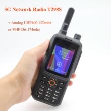 Radio sieciowe 3G T298S Android 4.4.2 WCDMA GSM sieć publiczna radio z ekranem dotykowym UHF400 470MHz lub VHF136 174MHz walkie talkie