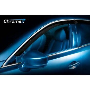 Mesh on bumper external for Citroen Berlingo 2015-, 2 pcs, Chrome, 2