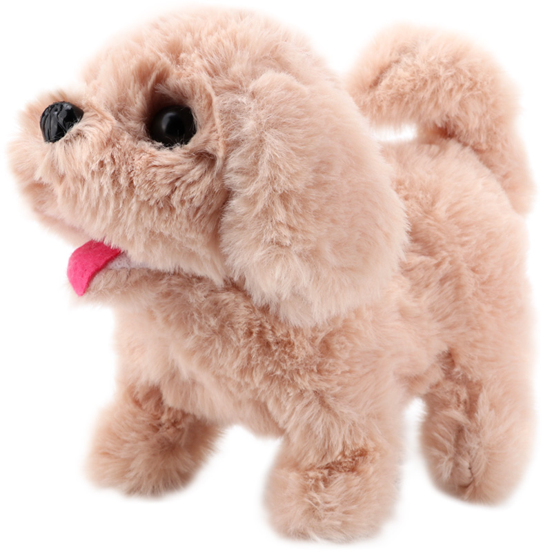 Robot Dog Electronic Plush Puppy Jump Rabbit Wag Tail Leash Teddy Walking Barking Funny Huskies Toys For Children Birthday Gift