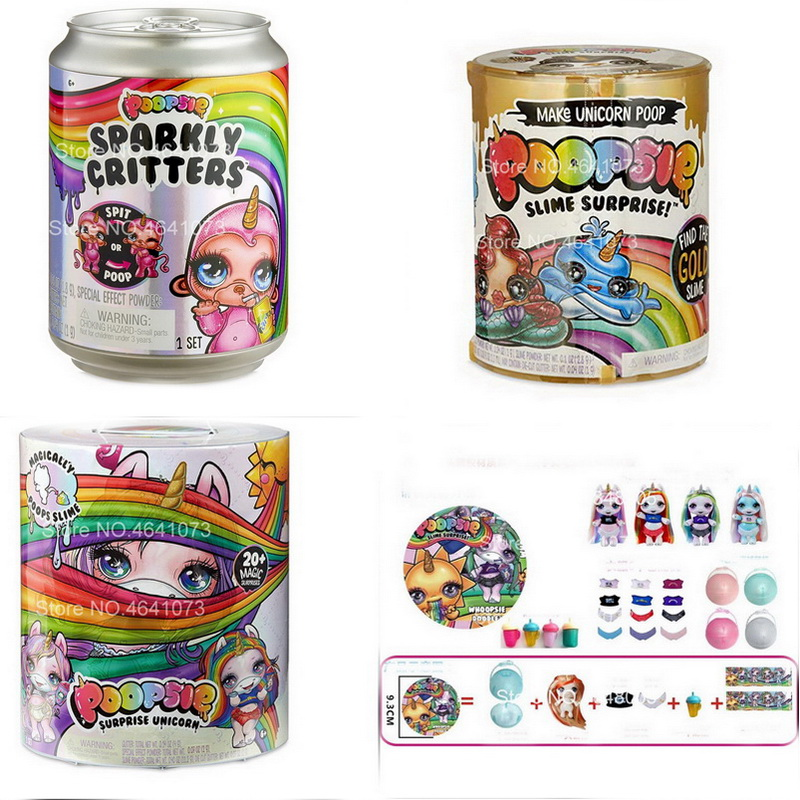 2019 Surprise Free Shipping Poopsie Slime Unicorn LOLS Dolls Product Squeeze Sparkly Critters Cans Shaky Toys Gifts For Children