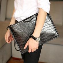 2020 New Leather bag Business Men Crocodile Leather Laptop Tote Briefcases bags Shoulder Handbag Men's Messenger Bags