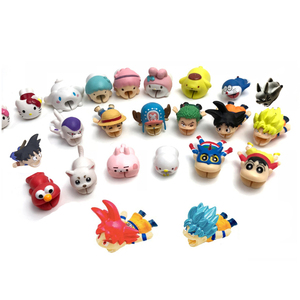 new hero Anime Cable Bite Animal Cable Protector Cartoon Stitch One point Monkey Z.D Dragon Chopper Ball Goku Frieza Bites Toy(China)