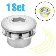 1 шт универсальная Головка триммера алюминиевая с 4 линиями