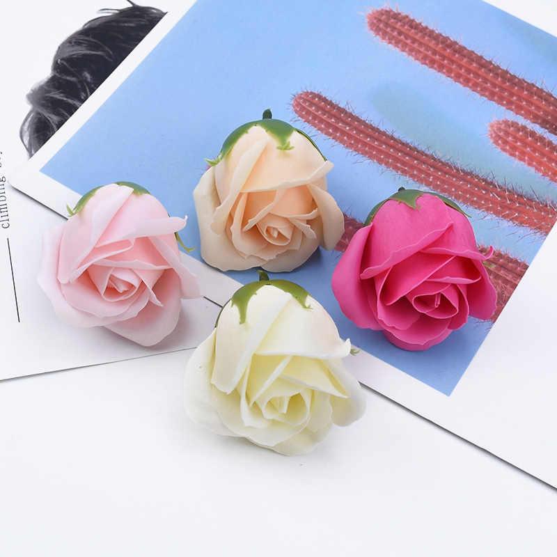 2/5/8 ชิ้นสบู่Roseดอกไม้ตกแต่งดอกไม้เจ้าสาวอุปกรณ์เสริมClearanceของขวัญDiyเจ้าสาวดอกไม้วัสดุ