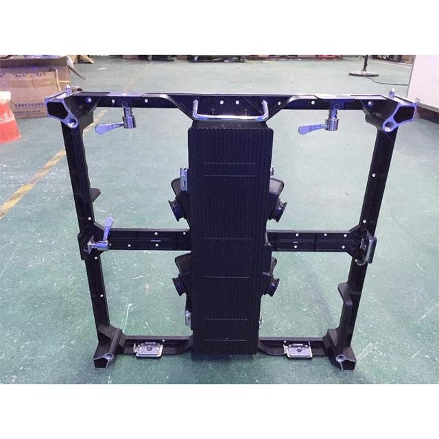 500x500 มม.อลูมิเนียมหล่ออลูมิเนียมตู้,P3.91 P4.81 ที่ว่างเปล่าตู้ในร่มกลางแจ้งจอแสดงผล LED