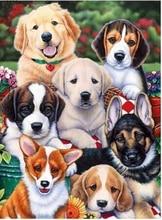 Love.Thanks Animal Diamont Painting Pet Dog 5D Diamond Painting Mosaic Cross-Stitch Diamond Embroidery Painting 5d diamond painting animal cross stitch dog