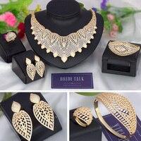 Bride Talk Twisted line multicolour Cubic zircon 4PCS Big Luxury sets suitable for women Wedding & engagement jewelry