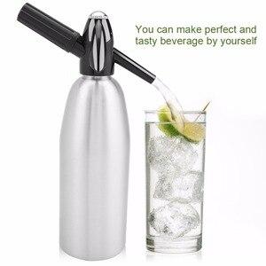Machine à jus de boisson maison bricolage | Bar bière Soda fabricant bouteille en acier Soda, flux de mousse, cylindres injecteur