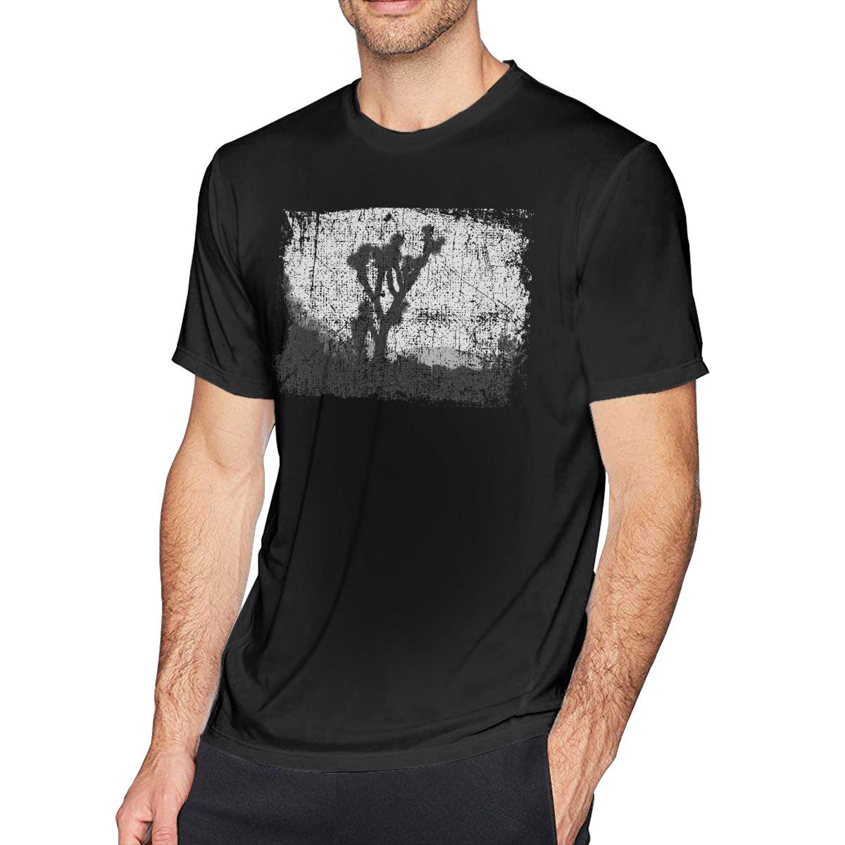 Дерево футболка Джошуа Футболка мужская размера плюс футболка, хлопковая футболка с короткими рукавами и принтом персонажей пляж с милыми ...
