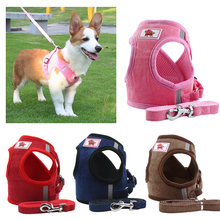 Reflective safety pet dog harness and leash set for dogs cat