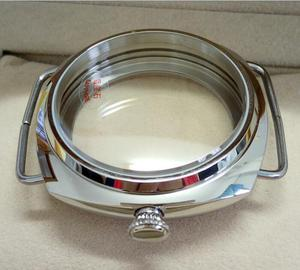 Image 4 - 45mm Sapphire crystal Polished Stainless Case Fit 6497 6498 Movement High quality watchcase wholesale 010a