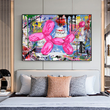 Abstract Street Art Graffiti Painting Printed on Canvas 4