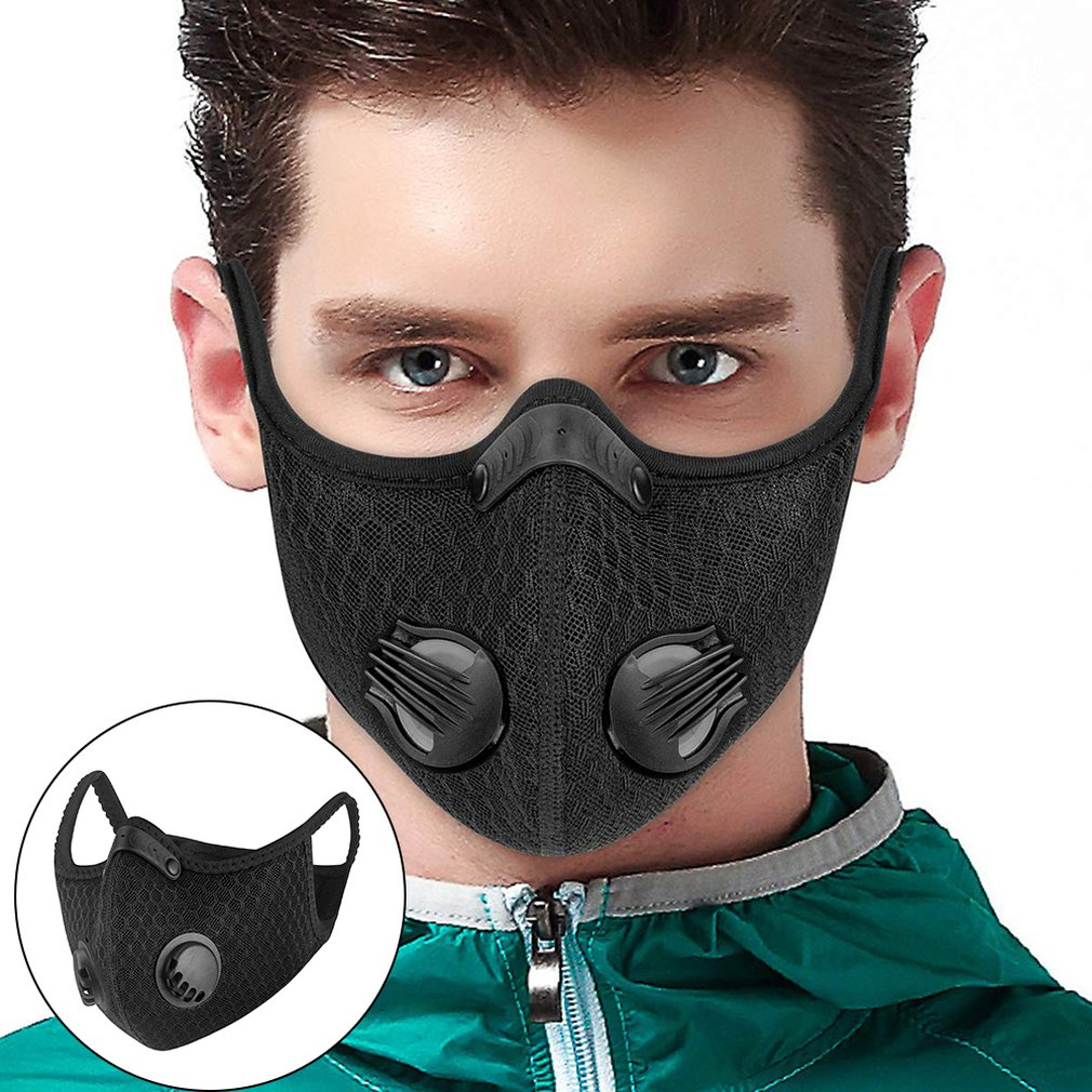 Bike KN95 Face Mask PM2.5 Mask Filter Dust Mask Activated Carbon With Filter Anti-Pollution Bicycle MTB ROCKBROS Cycling Mask