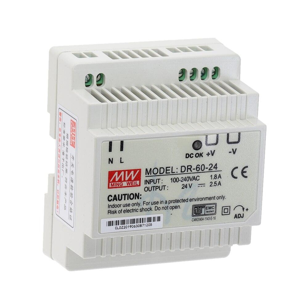 DR-15 DR-45 DR-60 15W 45W 60W Single Output 5V 12V 15V 24V Industrial Din Rail Switching Power Supply DR-15/45/60-5/12/15/24-2