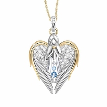 1 шт золотые серебряные со стразами Стразы в форме сердца дизайн ангел свитер с крыльями цепь подвески ожерелья для женщин угол девушка подарок