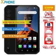 Blackview BV9900 Cell Phone 5.84 19:9 Câmera 8GB 256GB 48MP 16MP IP68IP69K OTG ID de Impressão Digital À Prova D Água Android 9.0 telefone