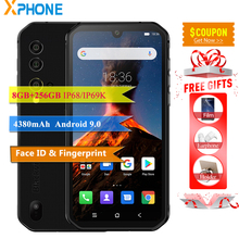 Blackview BV9900 téléphone portable 5.84 19:9 8GB 256GB 48MP 16MP caméra IP68IP69K étanche OTG empreinte digitale ID Android 9.0 téléphone