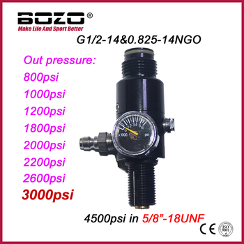 "New Paintball Air Gun Airsoft PCP Air Rifle HPA 4500psi Compressed Air Tank Regulator Valve Output Pressure 5/8""-18UNF"