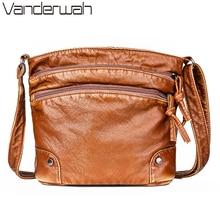 多くポケット冬クロスボディショルダーバッグ女性のレトロなハンドバッグの女性のソフト洗浄革財布とハンドバッグバッグメインショッピングバッグ