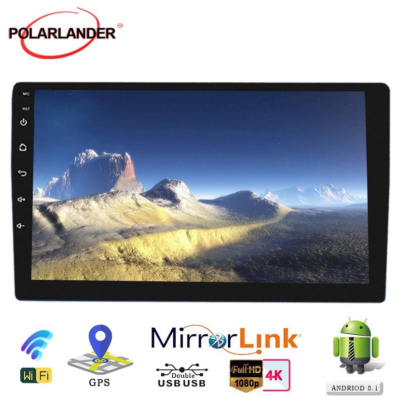 2 Din Car Radio For Android 9.1 Quad Core Stereo Auto-radio Bluetooth Universal GPS Navi MP5 Player FM 9 Inch Audio Car Radio