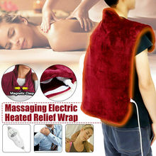 Flannel Health Relief Wrap Neck Shoulder Back Heat Pad Therapy Muscles Pain Relief Pad Massaging Heat Wrap Household Massager