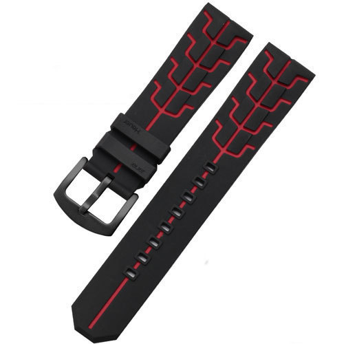 22mm Soft silicone watch band  with pin buckle adaptation Tag Heuer F1  Series WAZ2113 male Rubber strap | Watchbands