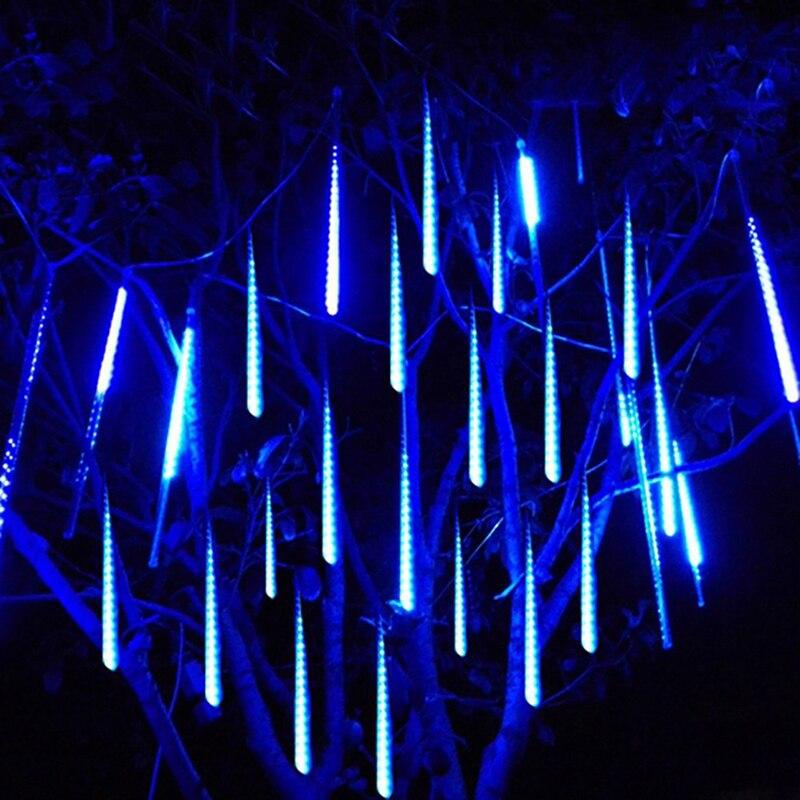 Waterproof 8 Tube 30cm 50cm Meteor Shower Rain LED Outdoor String Lights Christmas Garland For Wedding Party Garden Decoration