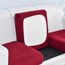 Protector Sofa Slipcover Seat-Cushion Elastic-Furniture Jacquard Solid-Color Thick