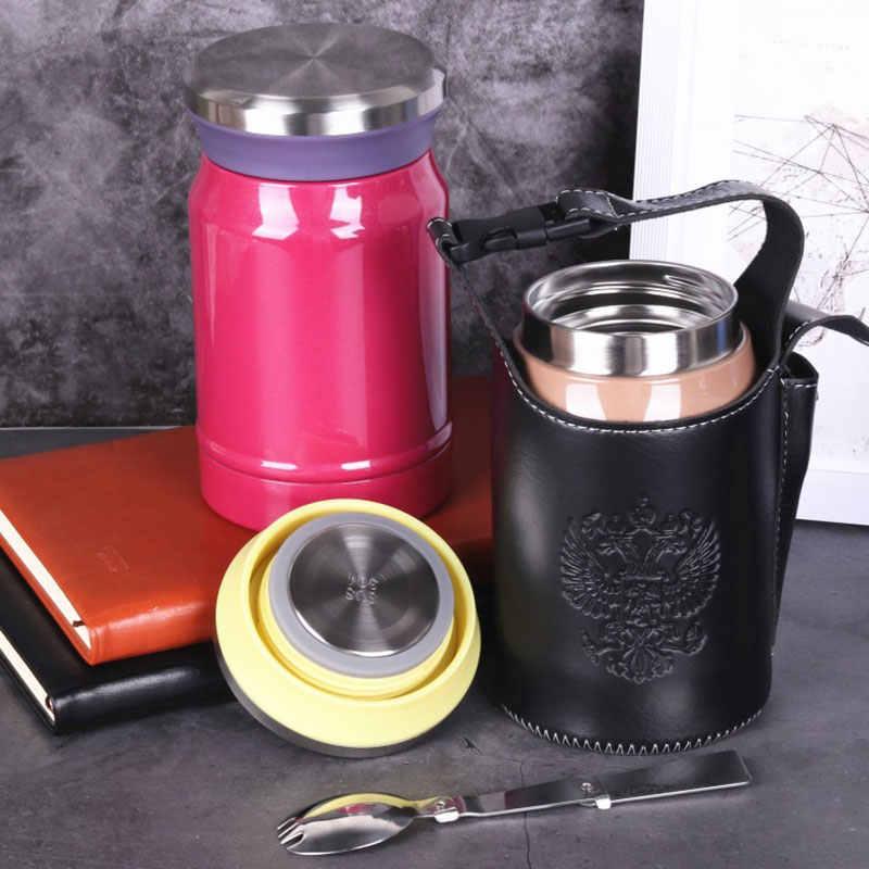 620ML termos na żywność o dużej pojemności pudełko na lunch ze stali nierdzewnej izolowana kawa woda zupa owsianka przenośny Thermocup z torbą