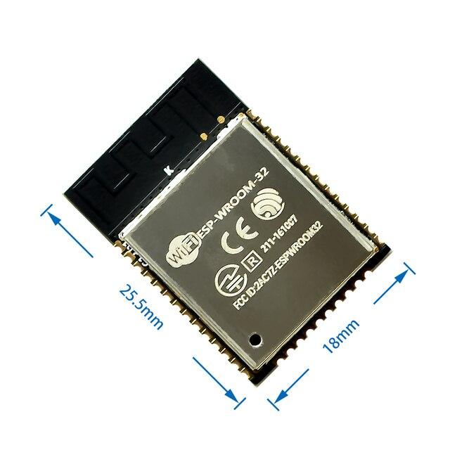 10 adet/grup ESP 32S ESP32 ESP 32 ile Bluetooth ve WIFI çift çekirdekli CPU düşük güç tüketimi MCU ESP 32