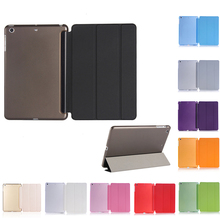 купить Ultra Slim Magnetic Smart Flip Stand PU Leather Cover Case for iPad Mini 1 2 3 Tri-fold Smart Cover Dormancy Tablet Sleeve дешево