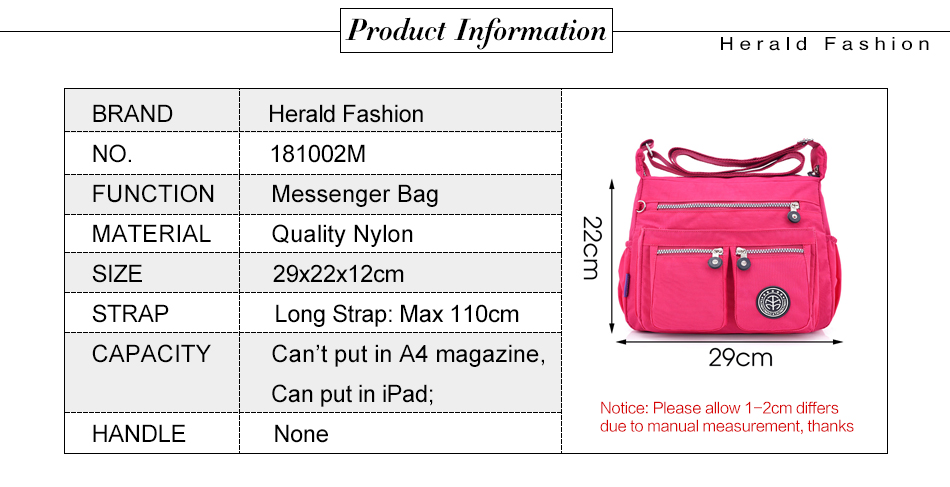 Hf1bc08b553804c99b1fe44af4f476611w - Waterproof Nylon Women Messenger Bags Carteira Vintage Hobos Ladies Handbag Female Crossbody Bags Shoulder Bags