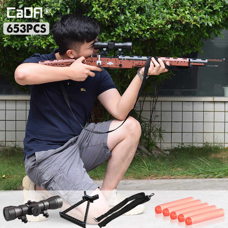 SWAT Military WW2 Weapon 98K Desert Eagle Submachine Models Building Blocks Compatible Legoingly Pistol GUN Blocks Toys