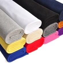 2x2 Rib Knit Cloth Stretch Tubular Ribbed spandex  for cuffs & collars Fabric Cotton ribbing maternity pants Material