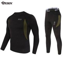 Esdy conjuntos de roupa interior térmica unisex velo roupas íntimas de secagem rápida tendências, ciclismo, desafios extremos, caminhadas, campismo