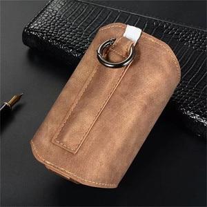 Image 5 - JINXINGCHENG funda portátil de cuero con gancho abatible para IQOS 3,0, 5 colores, funda cartuchera, Funda de cuero, doble bolsa, accesorios