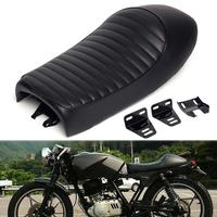 Universal Cafe Racing Seat Motorcycle Seat Black Vintage Hump Saddle Pan for Honda Cafe Racing CB125S CB200 CB350 CL350 CB400